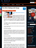 CEOs Challenge with Change